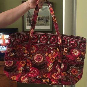 Pink print Vera Bradley tote beach bag